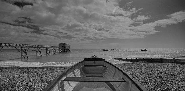 Lifeboat Station... Pier RNLI RNLI Centre Sea Sea And Sky