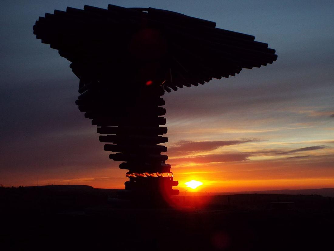 Pipes Tubes Landmark Pennines Pennine Moors Sculpture Silhouette Silouette & Sky Sunset 43 Golden Moments Minimalist Architecture