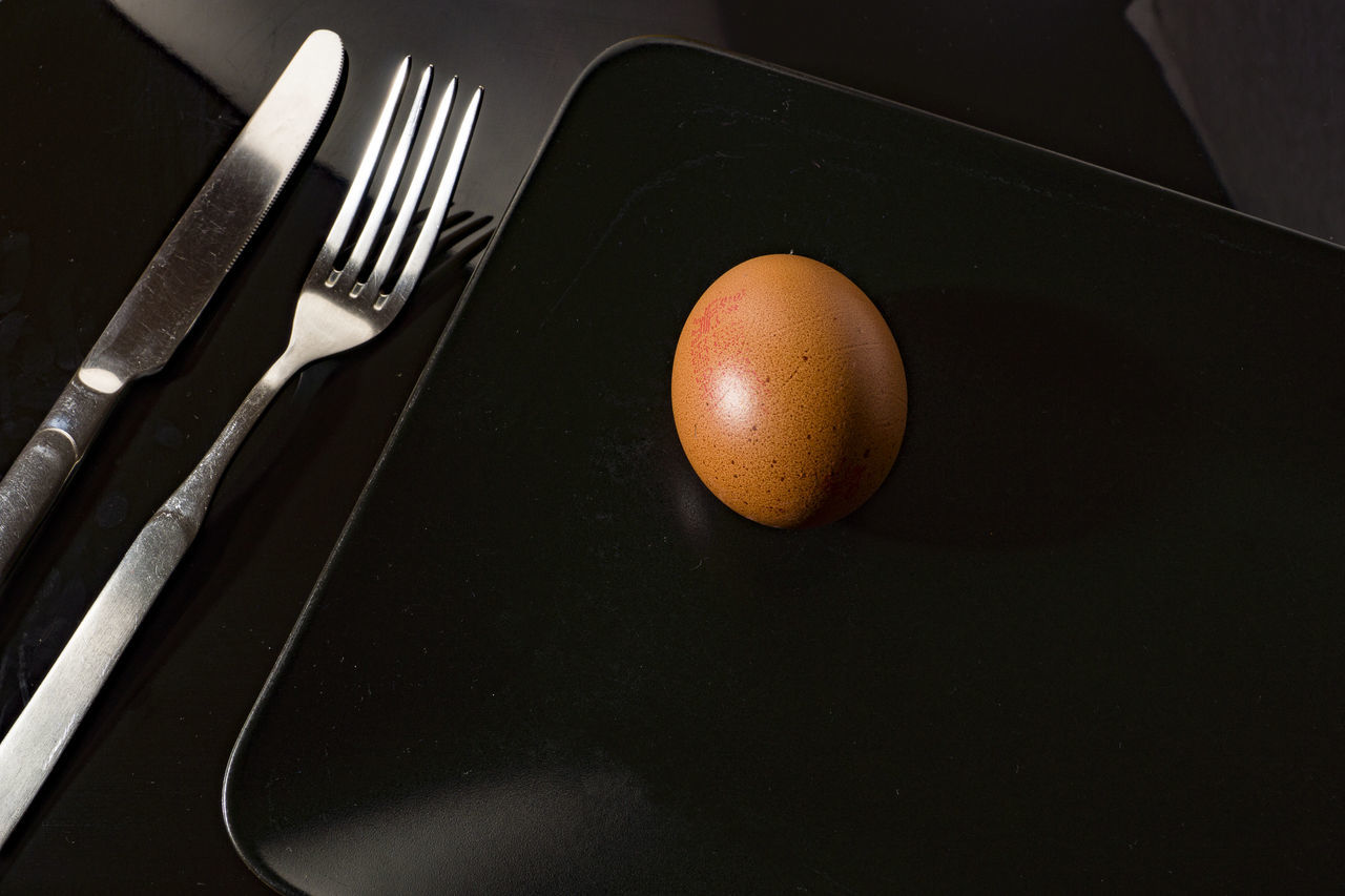 Black Background Black Plate Close-up Day Egg On Black Plate Egg On Plate Enjoying Life Food Food And Drink Fork Freshness Healthy Eating Indoors  Knife Knife & Fork Knife And Fork No People Plate Still Life Studio Shot Table Egg ikea