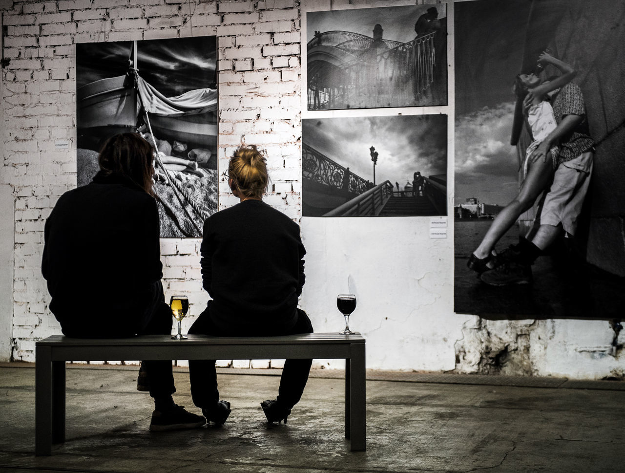 Russia, Moscow, exhibition, kissing, love, wine, humor Architecture Built Structure Day Exhibition Full Length Humor Indoors  Kissing Leisure Activity Lifestyles Love Men Moscow People Real People Russia Sitting Two People Wine Women