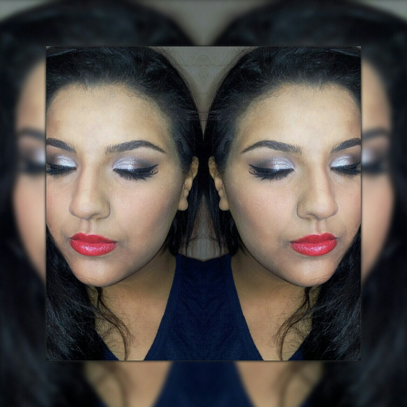 My make Up Model today for New Look Check This Out Silver  Smokey Eyes Mua Eye4photography  Faces Of EyeEm Fashion Photography