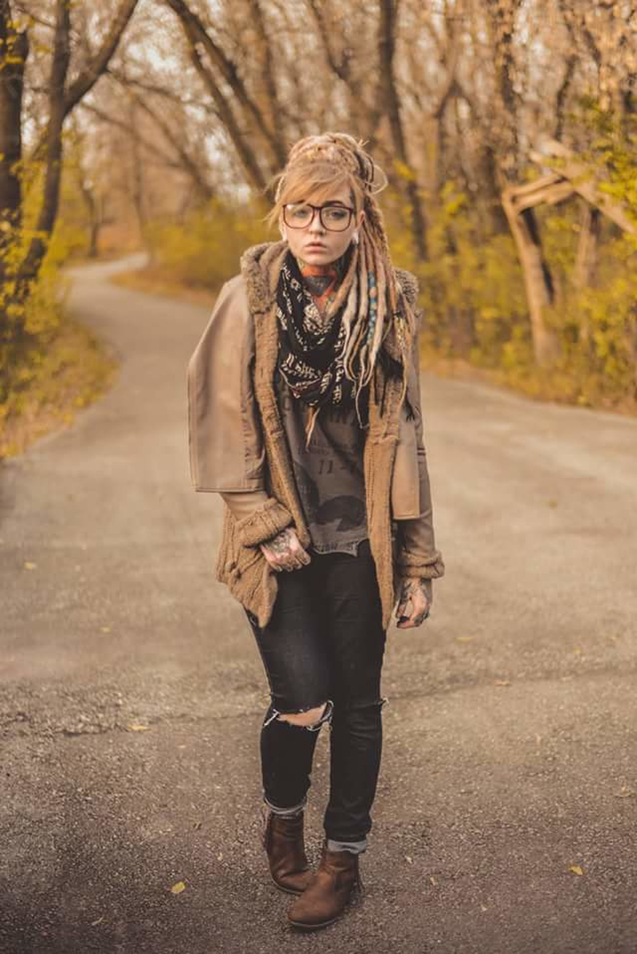 young adult, human body part, portrait, beautiful people, autumn, blond hair, beauty, women, fashion, adult, sunlight, one person, nature, beautiful woman, smiling, people, only women, arts culture and entertainment, young women, outdoors, scarf, adults only, one young woman only, human hand, day