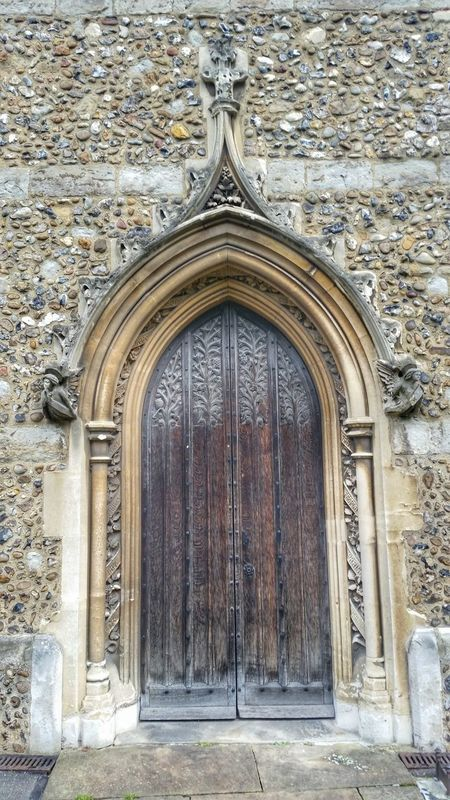 Flint Stone Wall Gothic Arches Church Door Cathedral Chelmsford Architectural Detail Stone Arches Medieval Architecture Quoins Timber Door Stone Detail Doorway