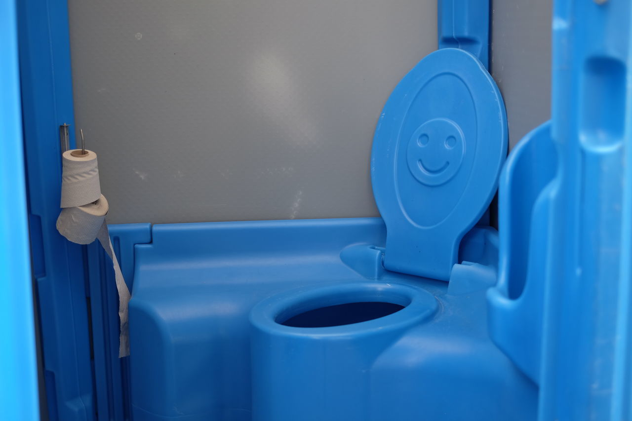blue, indoors, hygiene, close-up, no people, bathroom, day, flushing toilet