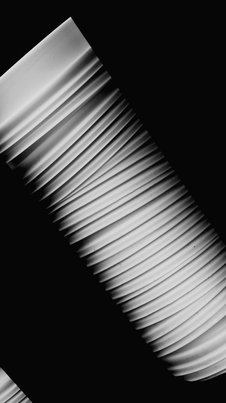 indoors, pattern, no people, close-up, blinds, black background, technology, day