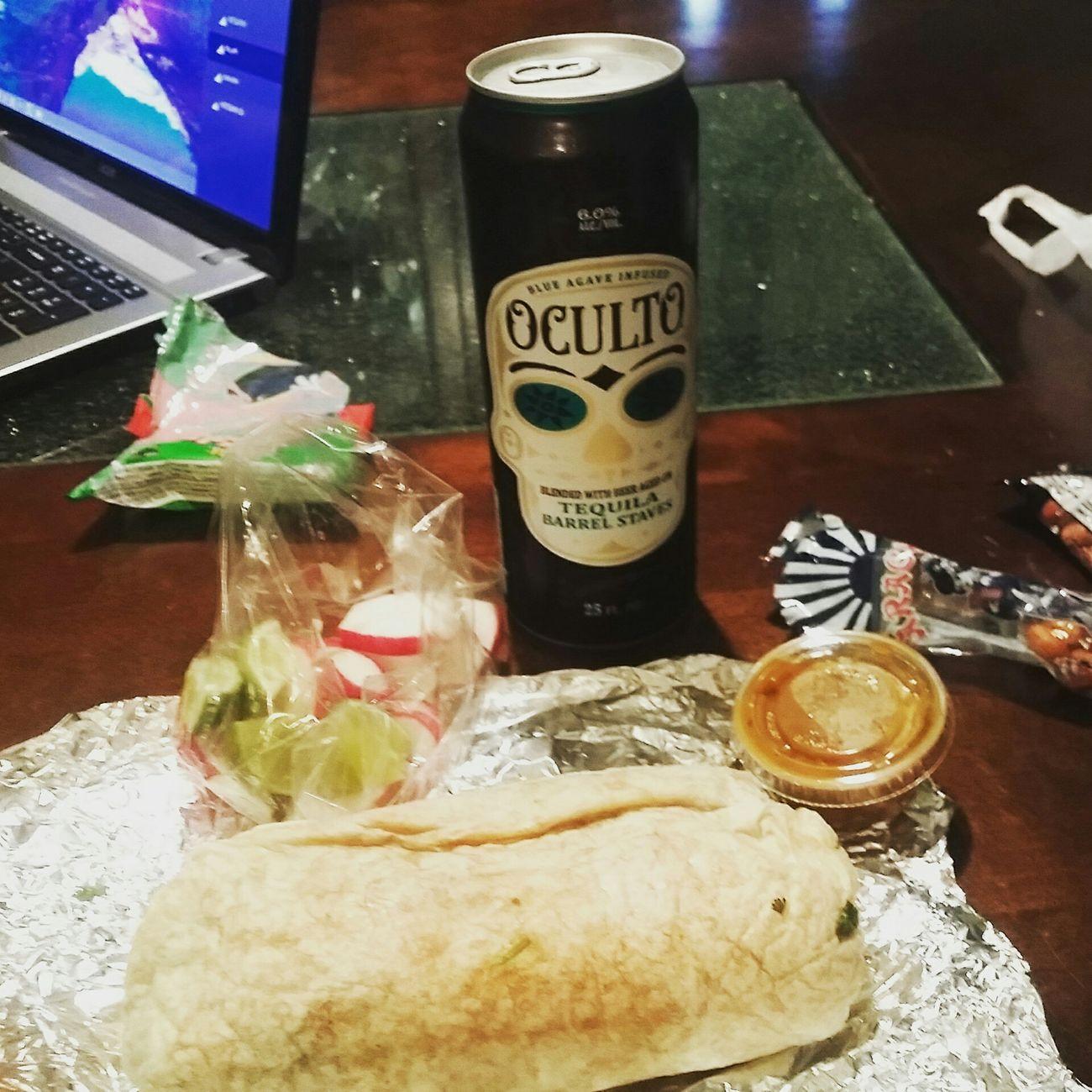 Carne Asada Burrito Hungry Oculto Ocultobeer Chappie Redsalsa