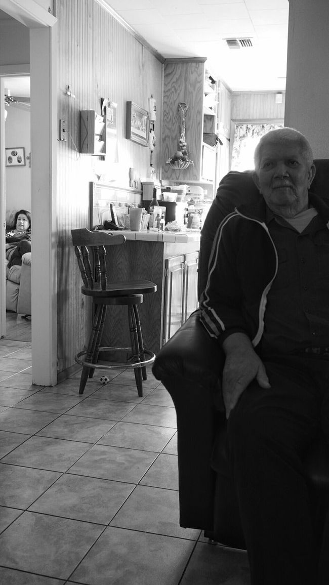 Father and daughter. Grandfather Auntie Contrast Hanging Out Black And White Light And Shadow Candid Rightplacerighttime Grainy Family