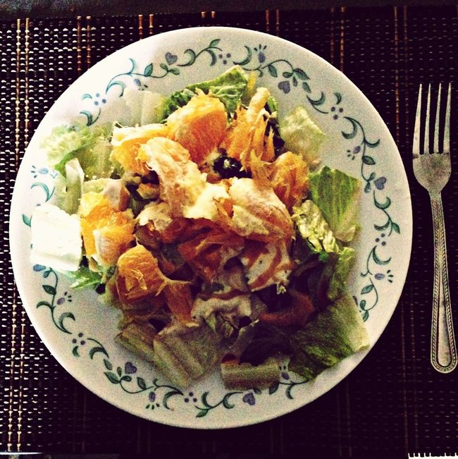 Ceasar Salad with orange...Good morning!