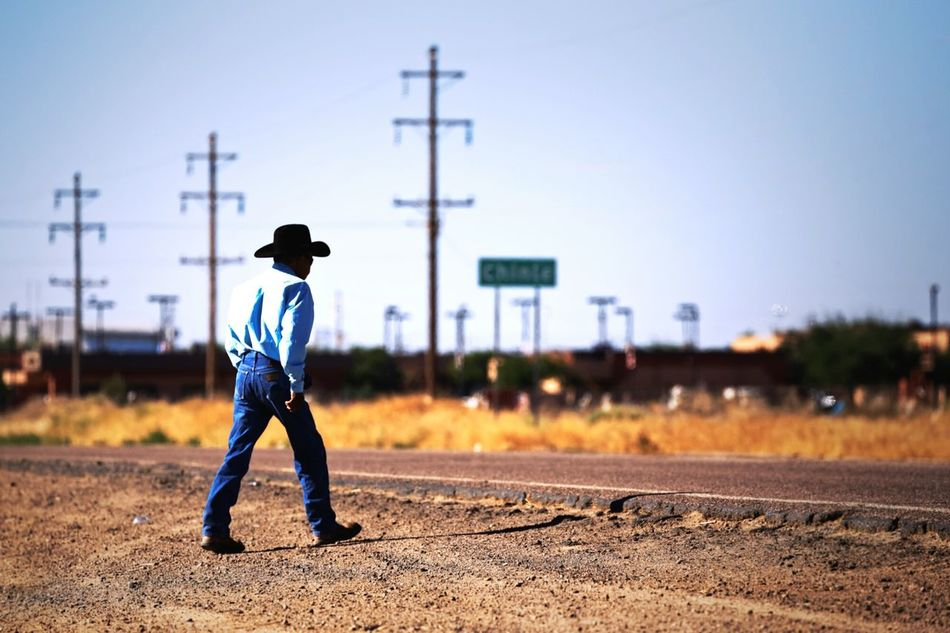 Beautiful stock photos of cowboy, Button Down Shirt, Casual Clothing, Chinle, Clear Sky