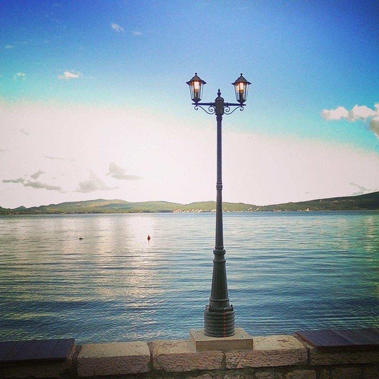 Streetlight Bayofkotor Baylife Bliss Sea Montenegro Landscape