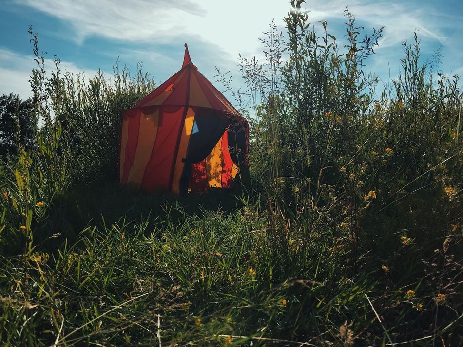 Kid's circus tent... Grass Nature Outdoors Beauty In Nature Details Of My Life Leisure Activity Childhood Kids Playing Playground Summer Field VSCO Made In Romania Vacations Adventure The Great Outdoors - 2017 EyeEm Awards Landscape My Favorite Photo Naturelovers Sky Green Hiking Tent Circus Playing Place Of Heart Breathing Space The Week On EyeEm Your Ticket To Europe Mix Yourself A Good Time