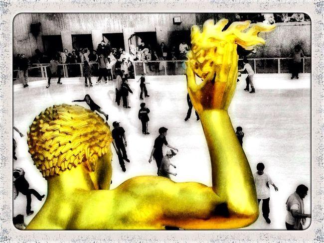 Having fun at Rockefeller Center Having Fun