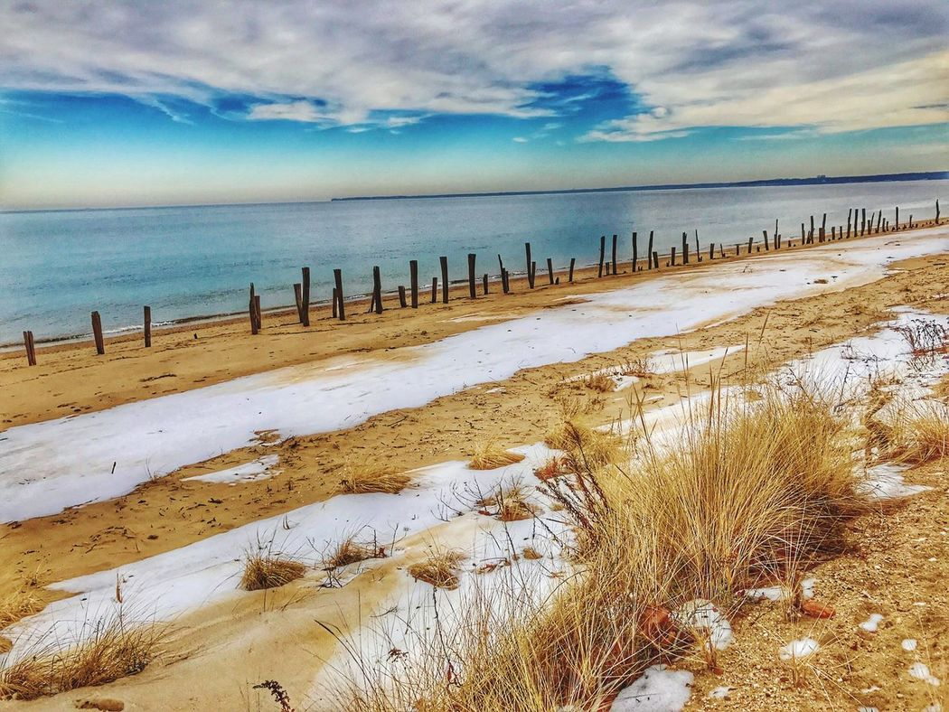 WinterAtTheBeach-Callahan's Sea Nature Cold Temperature Tranquility Beauty In Nature Sky Beach Scenics Long Island, Ny Northport Fort Salonga Callahan's Beach North Shore Weather Horizon Over Water Winter Water Snow Outdoors No People Cloud - Sky Sand Day