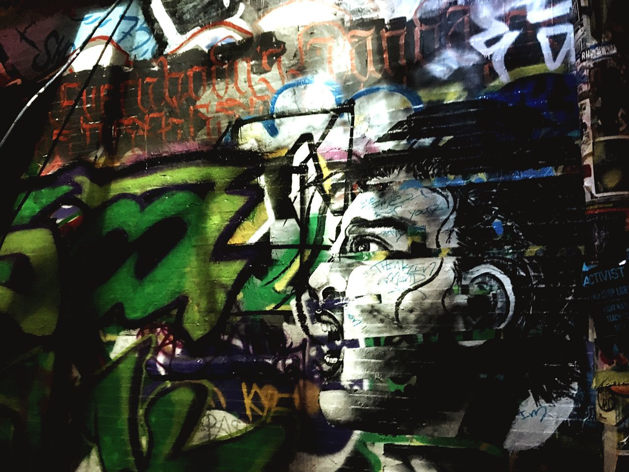 Graffiti Art And Craft Creativity Multi Colored No People Backgrounds Full Frame Close-up Architecture Outdoors Day Alleyway