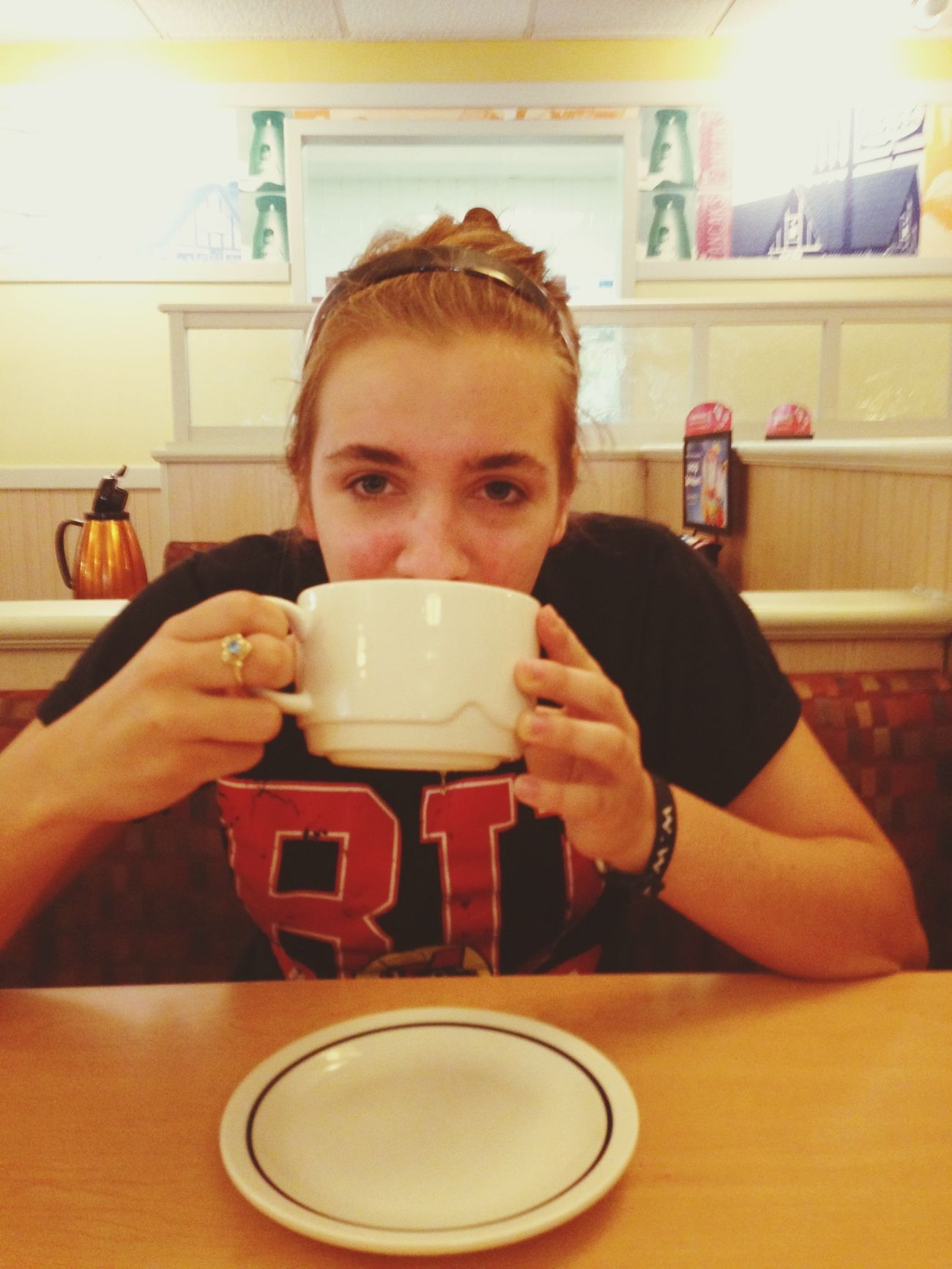 Aye big ass hot chocolate @ IHOP☕