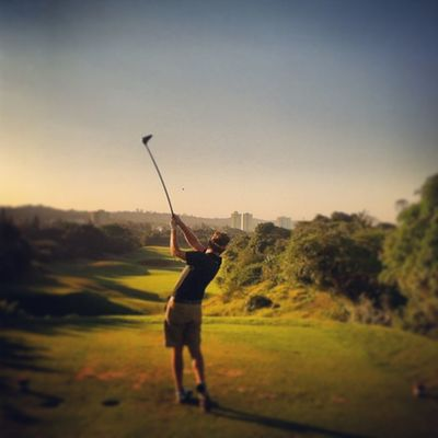 Just had to have a last 9 holes in fantastic weather Durban @iluvdbn Golf Instasport