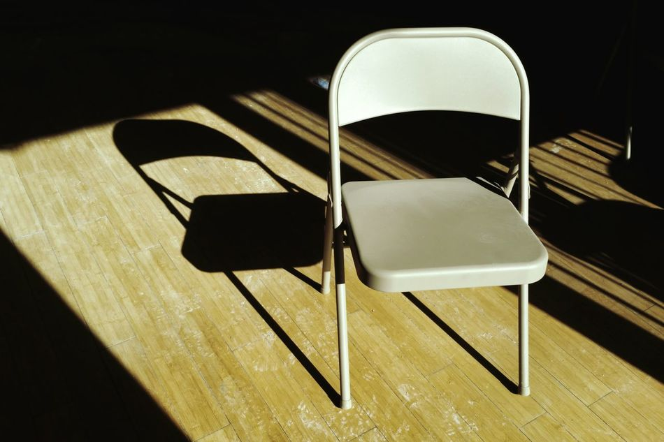 Take a seat Morning Light Jobsite  Sunlight Light And Shadow Minimalism Simplicity Chair Lines And Shapes