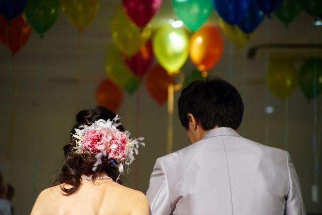 Wedding Ballons Congratulations Wedding Photography Happy People Japan