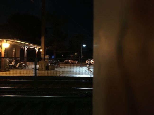City Life Dark Empty Illuminated Lighting Equipment Night No People Outdoors Sky Street Light The Way Forward Train Station