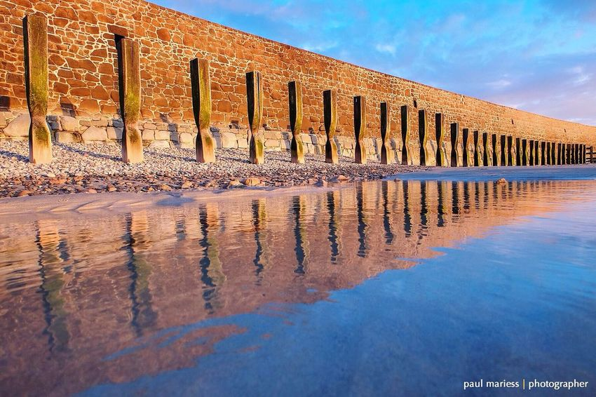 Guernsey Sea Sea And Sky Seaside Beach Reflection Reflections Reflection_collection Symmetry Landscape_Collection Eyem Best Shots Eye4photography  EyeEm Best Shots - Landscape EyeEm Best Shots Showcase April Water Reflections Coastline