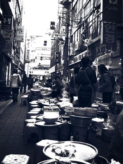 [ 부산 Busan , Nampo-dong Eatery Alley ( Changseon-dong Eatery Alley ) ] Alley .. Food Alley , Blackandwhite , Emotional Photography // One Day, 2006 ... trip to Busan