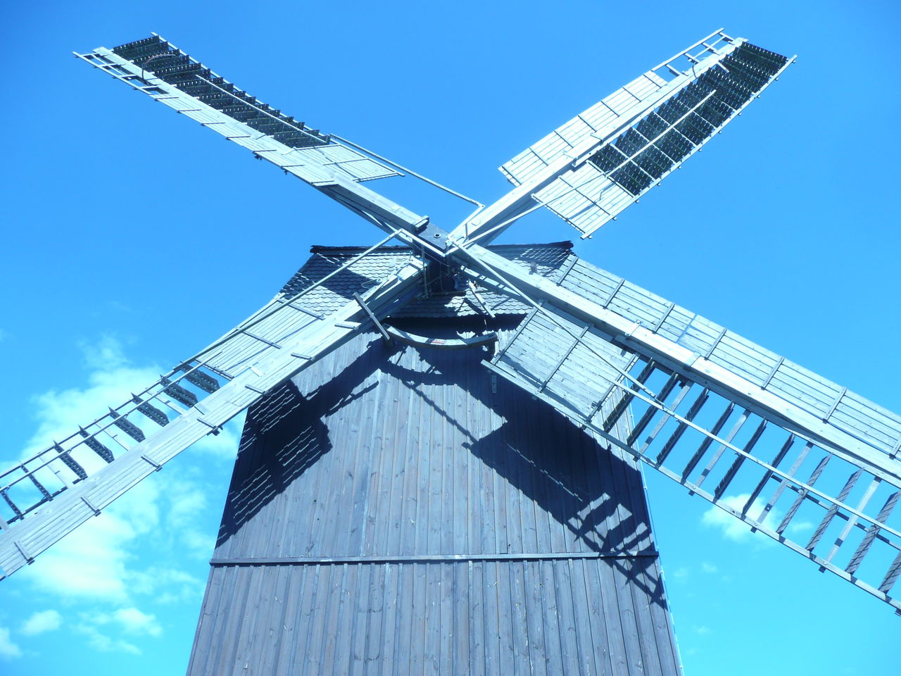 Architecture Brandenburg Industrial Revolution Low Angle View Old Windmill Outdoors Sky Windmill Wooden Windmill