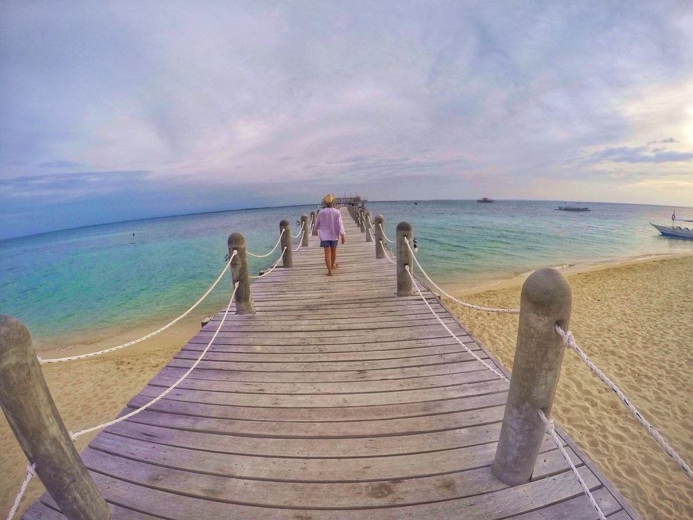Goprooftheday Beauty In Nature Sea Beach Lifestyles Water Horizon Over Water Sand Nature Sky Rear View Shore Lakawon Island Standing