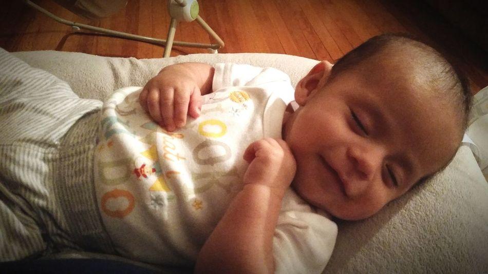Full tummy. Happy baby. Disney Baby CartersBaby