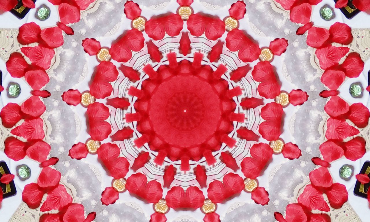 Red Multi Colored No People Concentric Mandala Red Color Madalas