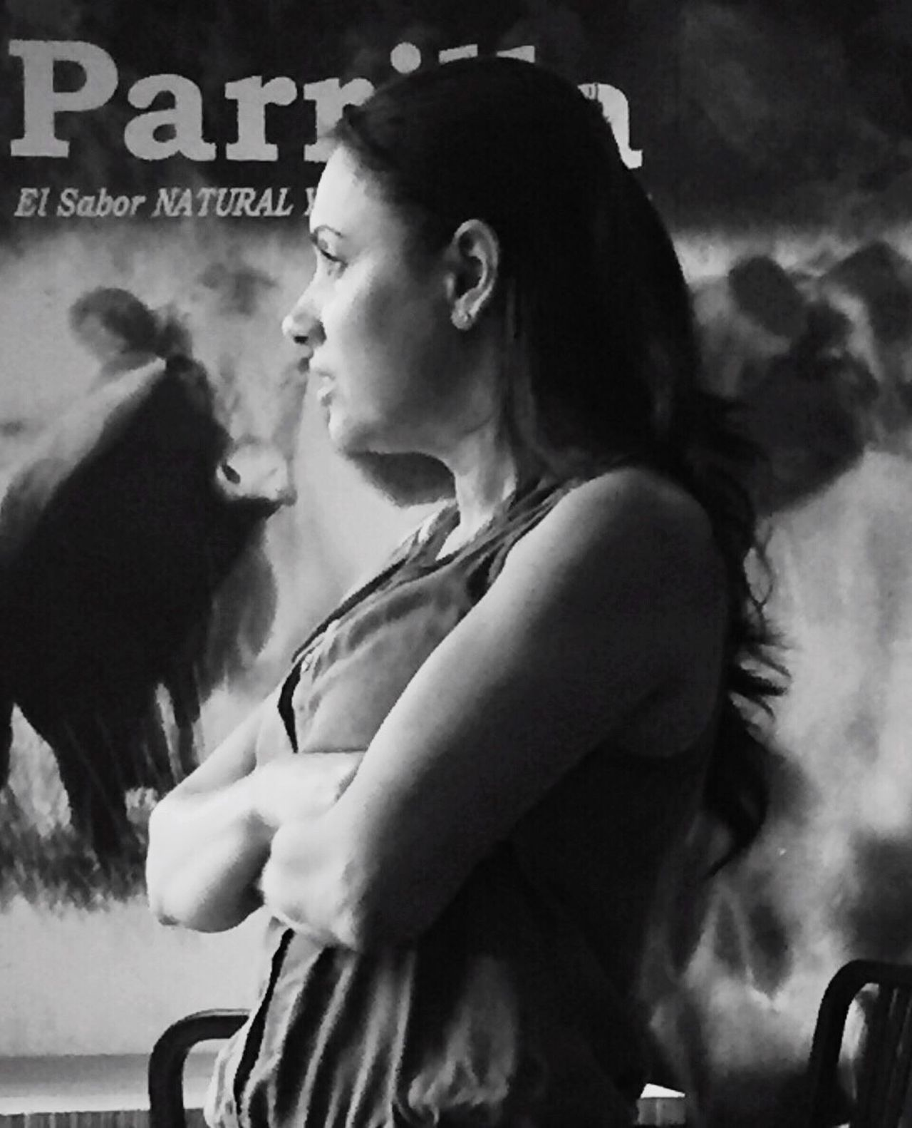Monochrome Photography Young Women Person Profile Mujer Pensando!