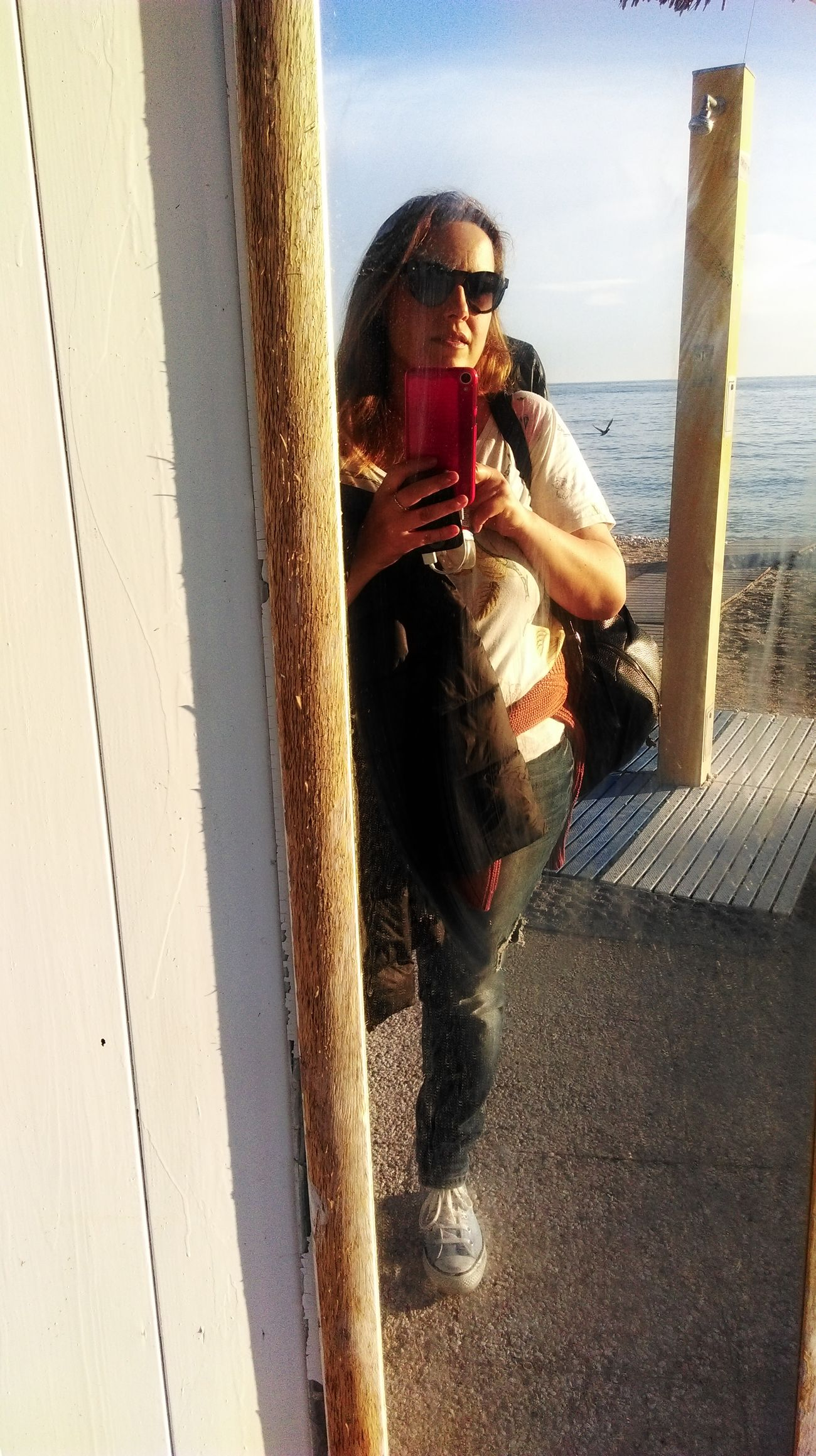 Sunglasses Water Sea Beach Silhouette Vacations Life Is A Beach Travel Destinations Tranquility Relaxing Beauty In Nature Beautiful Lifestyles Relax My Point Of View Sky No Filter Conero Portonovo, Italy Baia Di Portonovo (an) Monteconero Portonovo Sun Reflection Outdoors