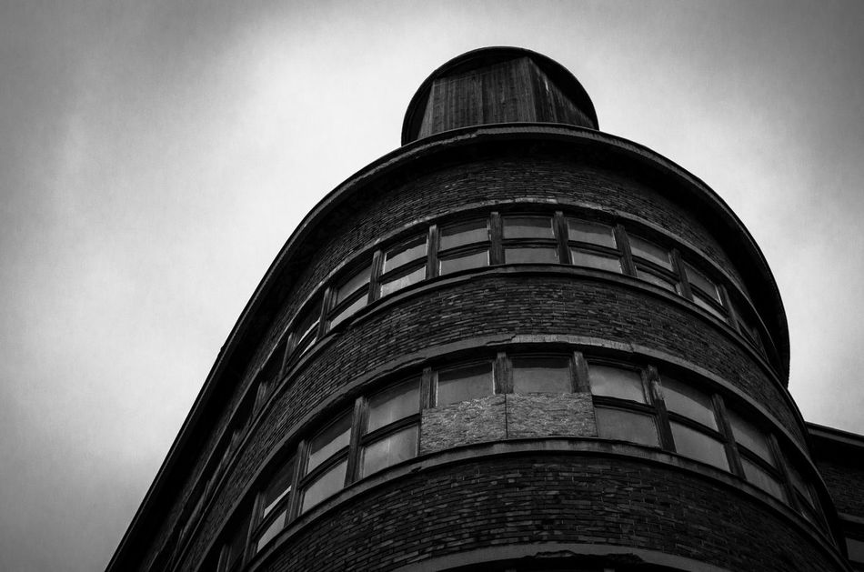 black and white and windows Architecture Black & White Bricks Building Exterior City EyeEm Best Shots EyeEm Best Shots - Black + White Fortheloveofblackandwhite Industrial Industrial Building  Low Angle View Mystery No People Sky The Secret Spaces Urban Urban Geometry Window