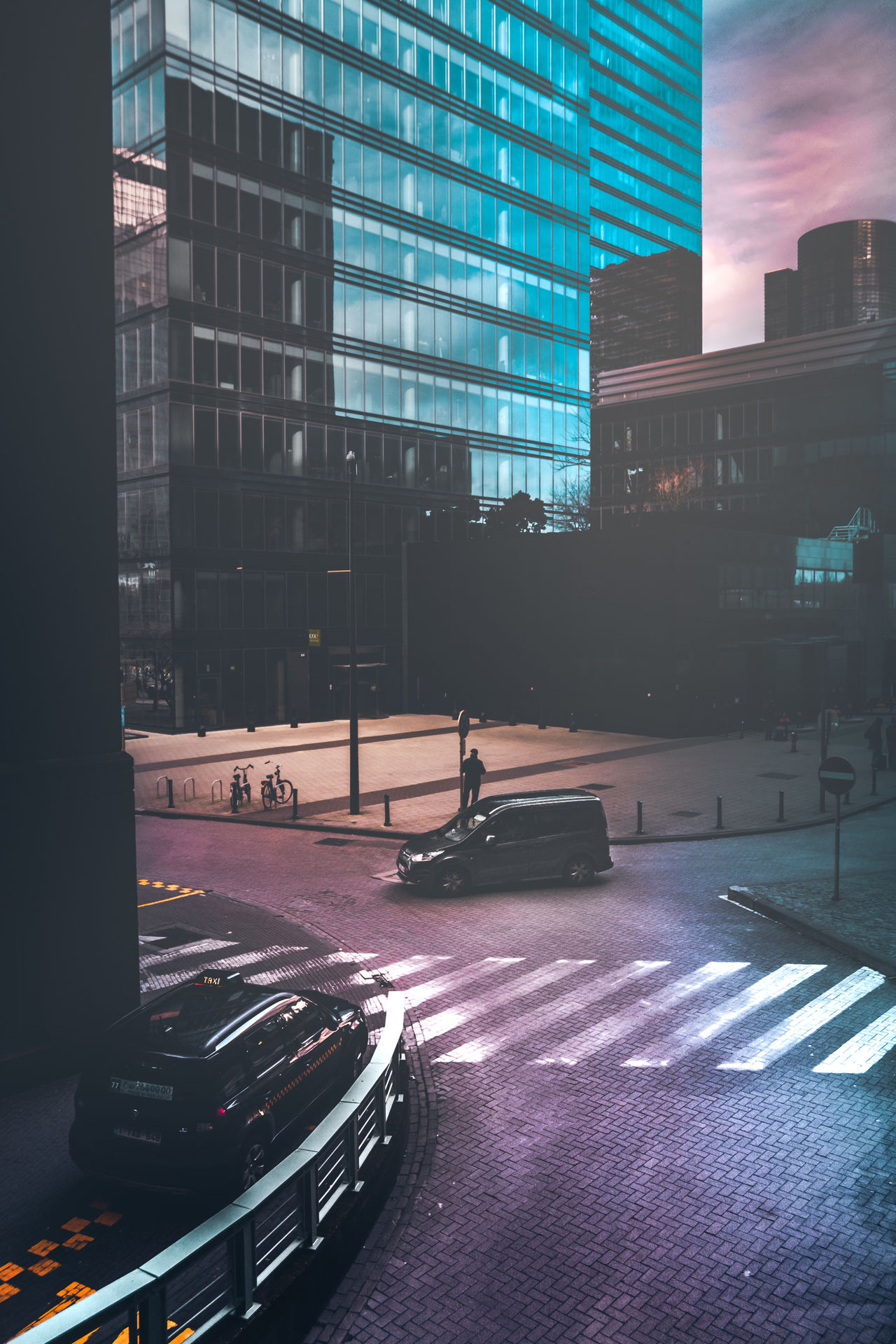 The Street Photographer - 2017 EyeEm Awards Architecture Skyscraper City Building Exterior Built Structure Modern Outdoors No People Sky Cityscape Urban Skyline City Life EyeEm Best Shots EyeEm Gallery Eye4photography  City Travel Destinations Brussels Colorful Road Car Cool New