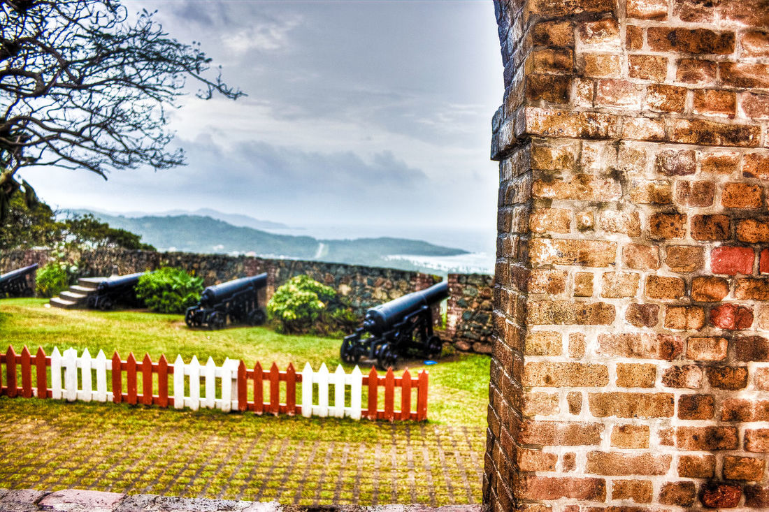 Architecture Building Exterior Built Structure Cloud - Sky Day Fortgeorge Grass Historical Building Historical Sights Nature No People Outdoors Sky Statue Tobagoisland Tree