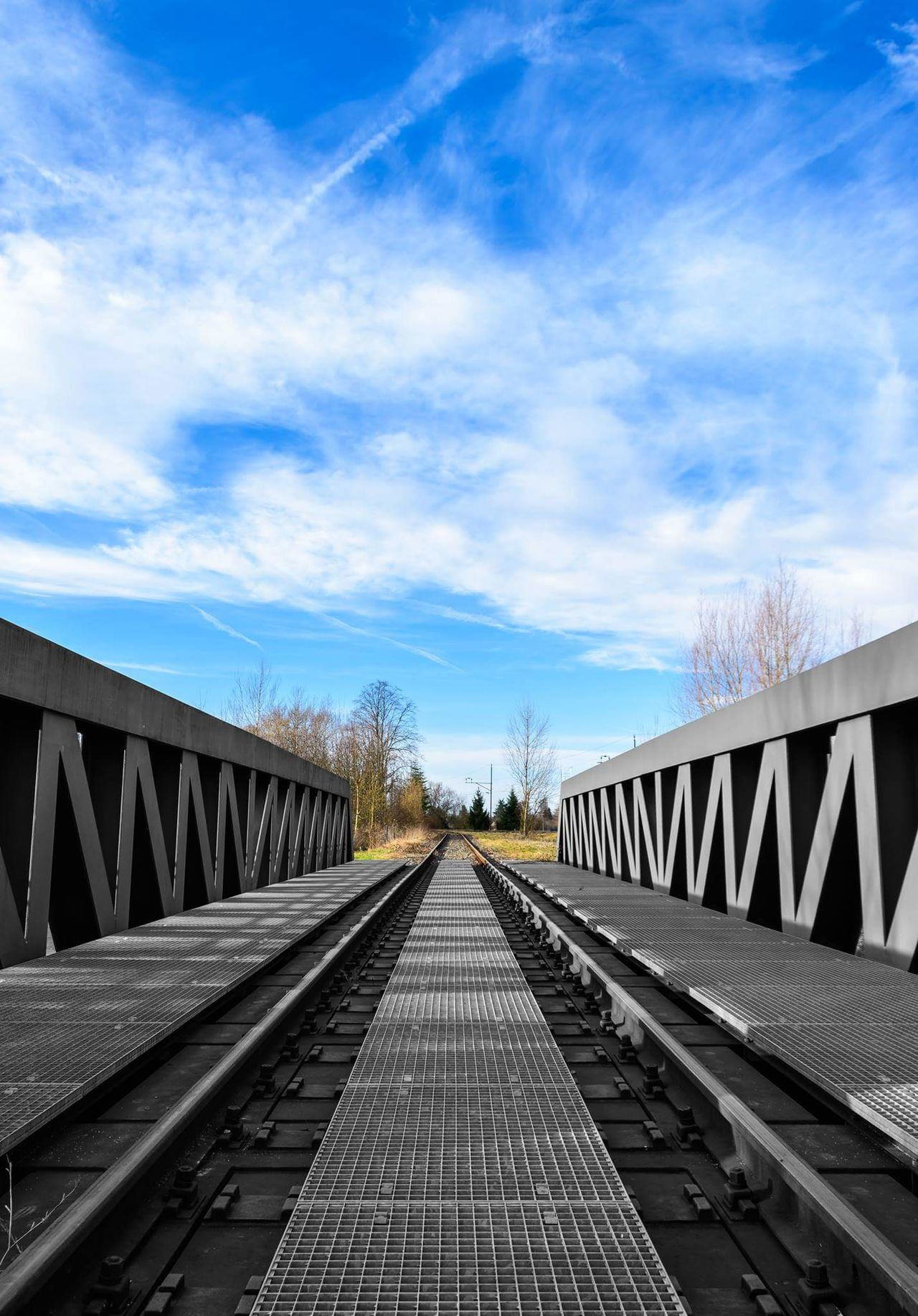 Photoshop artwork Cloud - Sky No People Outdoors Sky Rails Bridge Photography Beauty In Nature Black And White Photography