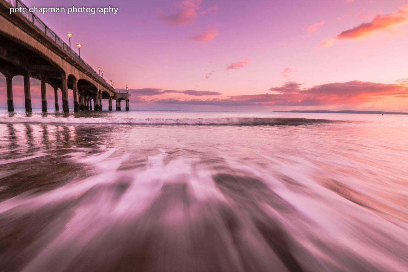 Long Exposure Surf Sunset Dorset Boscombe Boscombe Pier