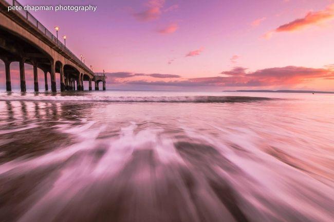 Long Exposure Surf Sunset Dorset Boscombe Boscombe Pier