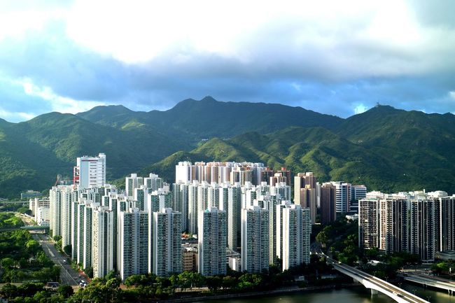 Discoverhongkong Cityandnature City View  Cityscapes Whitebuilding Whitebuildings Tadaa Community Nature Artificial Nature Hello World Scenery HongKong Shatin The Mix Up city and nature