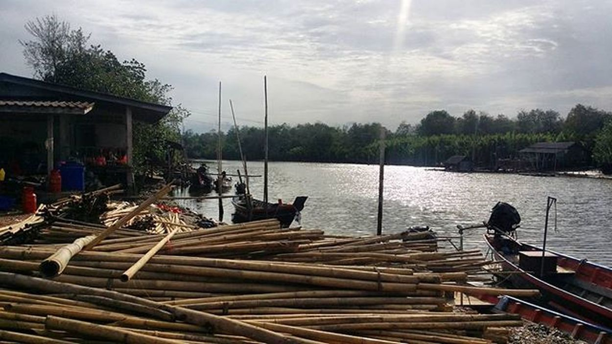 Fishing Village. @AppLetstag Village Nature Sky Travel Landscape Beautiful Green View Vscocam Tree Trip Instagood River Life Me Happy Photooftheday Picoftheday Fishing Outdoors Boat Fisherman Freshwater Catchoftheday Boats nofilter wanderlust adventure vacation Thailand