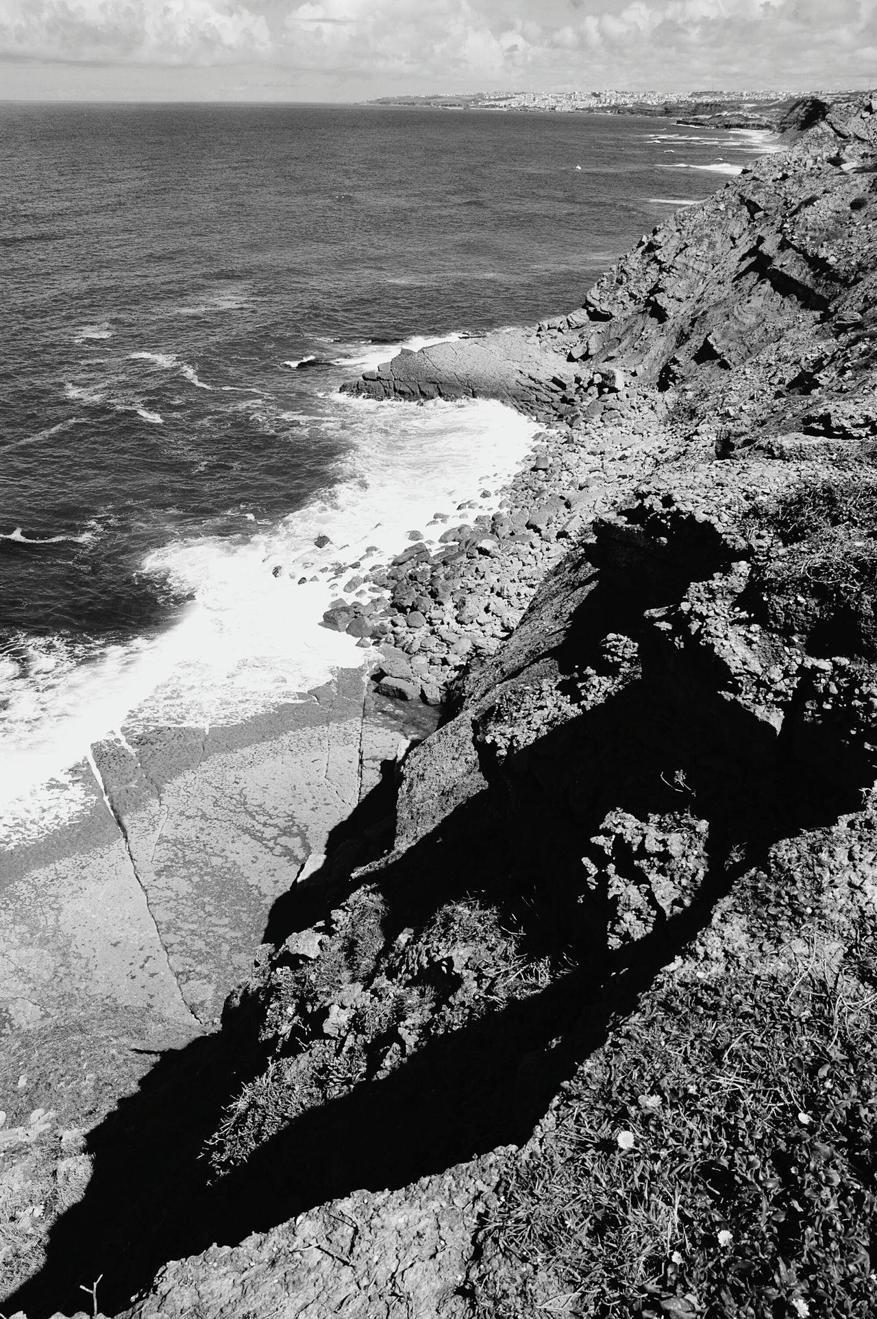 The KIOMI Collection Eyeem Edit Portugal Ocean Beach Naturelovers Rock Black & White