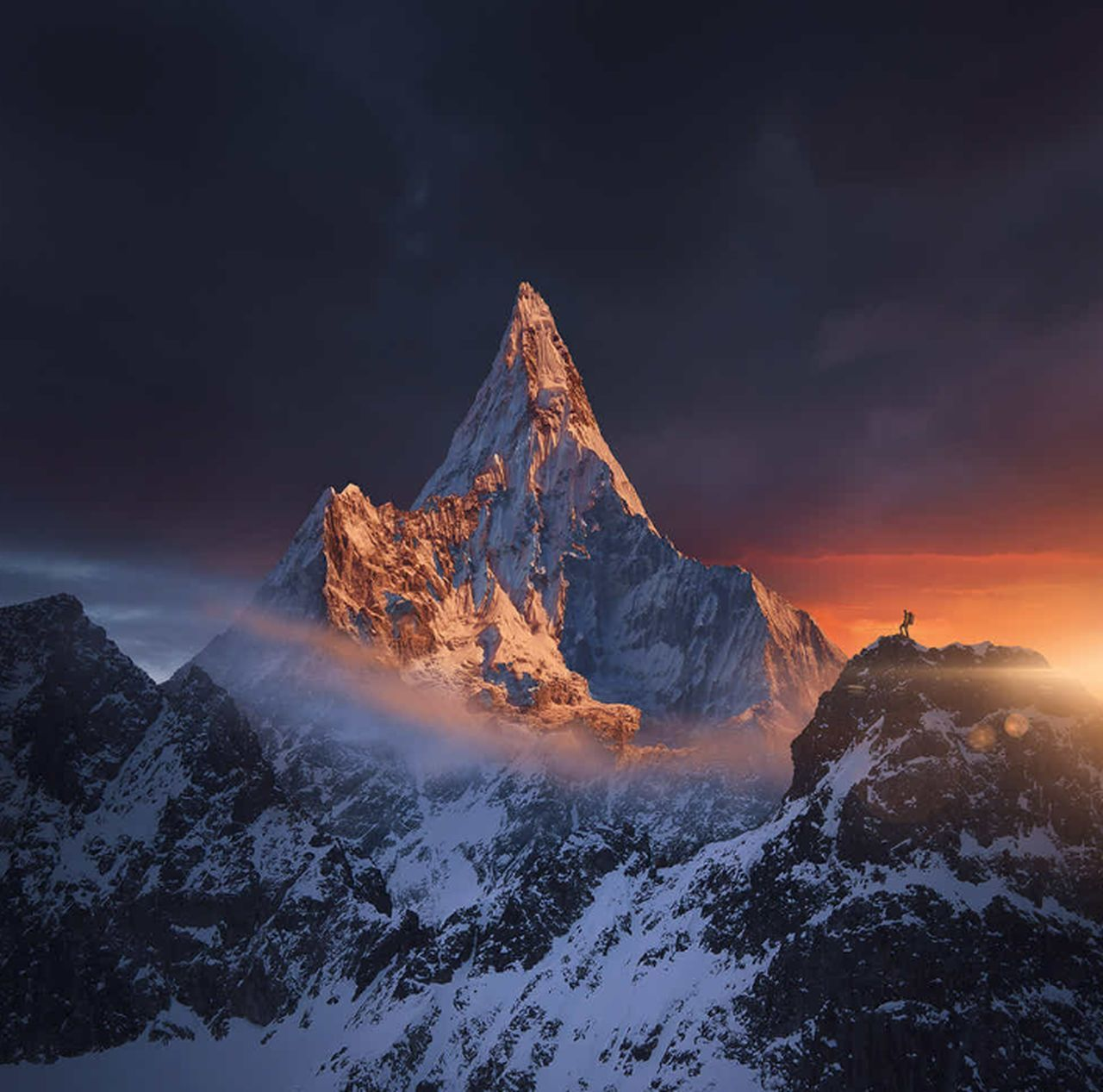 Breathing Space AboveAll Snow Mountain Peak Travel Destinations No People Onlysky EyeEmNewHere Investing In Quality Of Life