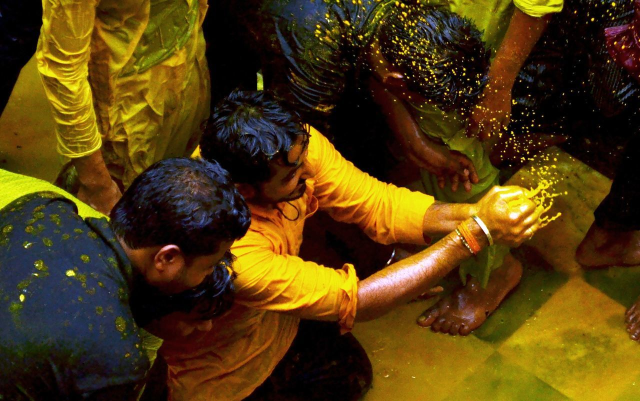 Celebrations Enjoying Life People Photography Playing With Colours Hindu Culture