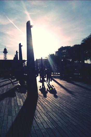 Pareja (Portvell-maremagnum) Landscape Mate Port De Barcelona  Streetphotography