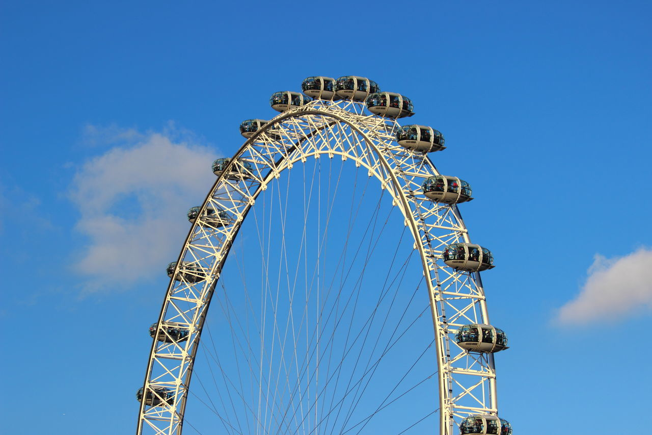 Blackandwhite City Ferry Wheel Leisure Activity London London Eye Outdoors Sky Travel Destinations