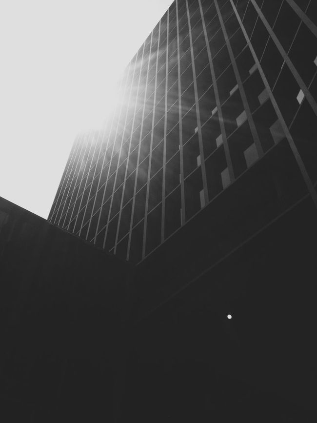 : sun covers with light the humankind magnificence. City 2.0 - The Future Of The City Architecture Blackandwhite Light