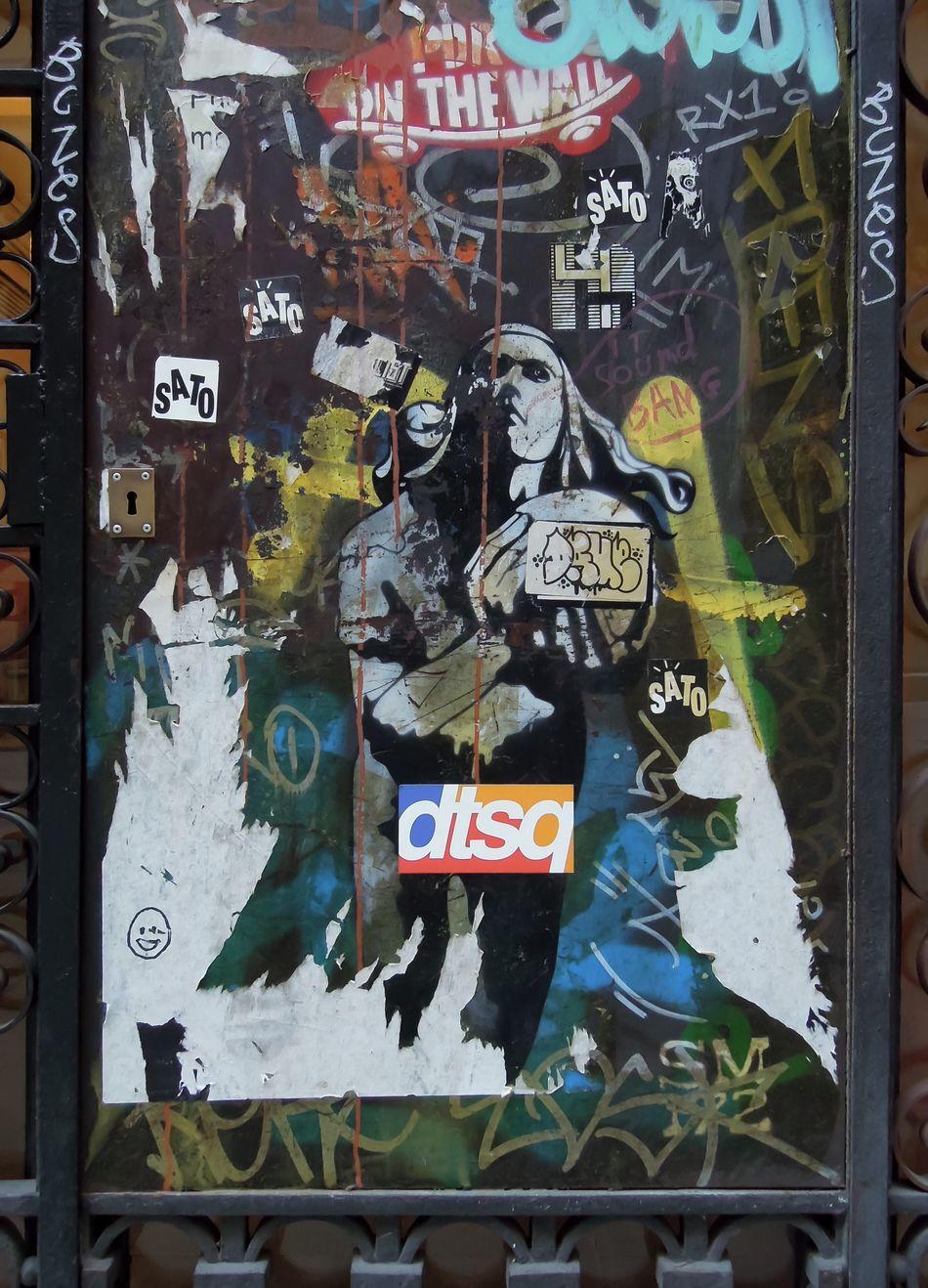 A Girl Volleyball Russian Style Street Art Barcelona Graffiti Art