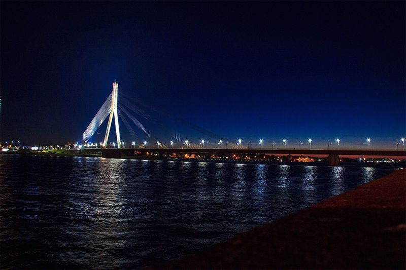 Riga Latvia Vansubridge Evening View First Eyeem Photo