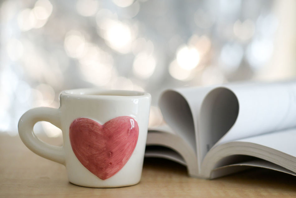 Close-up Coffee - Drink Coffee Cup Day Food And Drink Freshness Heart Shape Indoors  Love No People Still Life Table