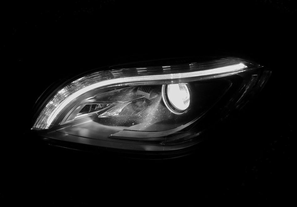 All The Neon Lights Headlight Blackandwhite The Drive Part Of Car Part Of Car