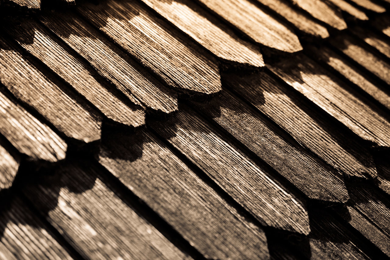 Kamenetz-Podіlsk fortress, Ukraine. Backgrounds Brown Close-up Day Full Frame Light And Shadow Monochrome No People Old Old Buildings Old Town Pattern Pattern Pieces Patterns & Textures Roof Rooftop Row Sepia Shadow Shingles Sunlight Textured  Timber Wood - Material Wood Shingles